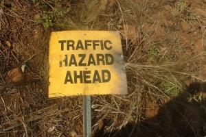 Day 25 near Silent Grove traffic hazard sign