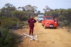 Janina with skeleton