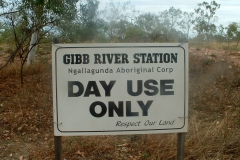 Day 26 Gibb river station sign