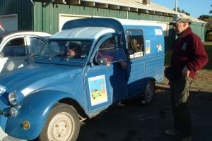 Day 1 Blue van and Ielko