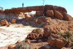 Day 5 Rocky Outcrop near Bindah Mine Herman on rock